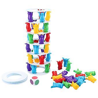 Penguin Tower Collapse Balance Spiel Spielzeug für Kinder Party Familie Tischspiele| Gags & Praktische Witze
