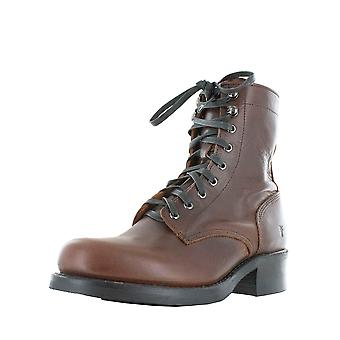 Frye Womens Engineer Combat Heeled Leather Lace Up Boots