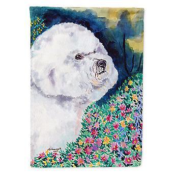 Les trésors de Caroline 7225Gf Bichon Frise Dans les fleurs Drapeau, Petit, Multicolore