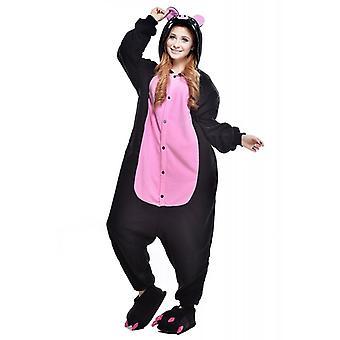 Regenboghorn Black Pig Costume Pajama Onesie Kigurumi Jumpsuit Animal Hoodie