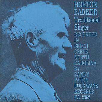 Horton Barker - Traditional Singer [CD] USA import