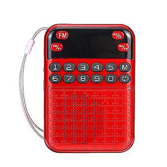 Hordozható FM 70-108MHZ rádió digitális kijelző kikapcsolja memória TF kártya hangszóró MP3 lejátszó