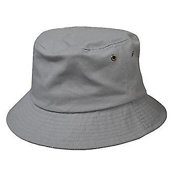 Chapéu de Balde de Algodão Unissex, Chapéu de Sol de Praia de Viagem (Cinza)