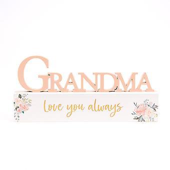 Ferskner & fløde mantel plaque bedstemor