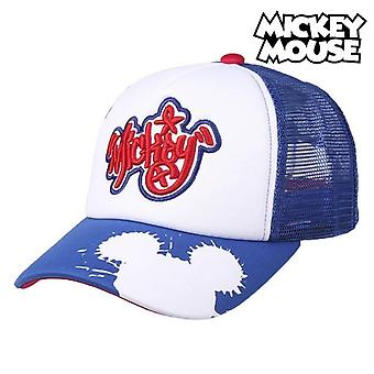 Unisex hat Mickey Mouse White (56 cm)