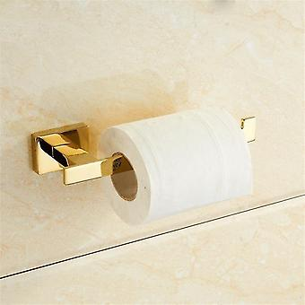 Golden Towel Rack Towel Bar Gold Stainless Toilet Brush Cup Holder Soap Dish Akcesoria łazienkowe