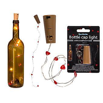 Mini String of Heart Lights for Bottles - Cracker Filler Gift