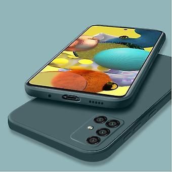 My choice Samsung Galaxy A42 Square Silicone Case - Soft Matte Case Liquid Cover Dark Green