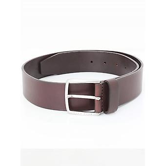 BOSS Casual Sjeeko Leather Belt - Dark Brown