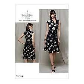 Vogue sy mønster 1584 savner kjole størrelse 14-22 uncut designer
