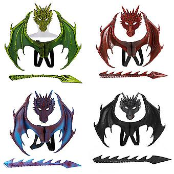 Dragon Wing Tail Mask Cosplay Sets Hallowmas Carnival Boys Girls Costume costumé