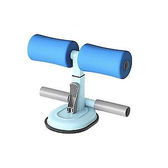 Parallel Bars Sit Up Sucker Aid Adjustable Floor Sit Up Exercise Device Indoor Equipment(Blue)