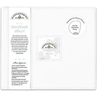 "Doodlebug Storybook D-Ring Album 12""X12"" - Lily Blanco"