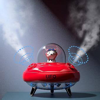 Humidifier Dual Nozzles Wireless UFO Desktop Air Humidifier Cute Planet