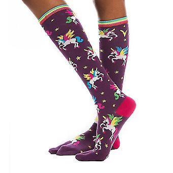 Flip-flop Socks-flying Unicorn Print