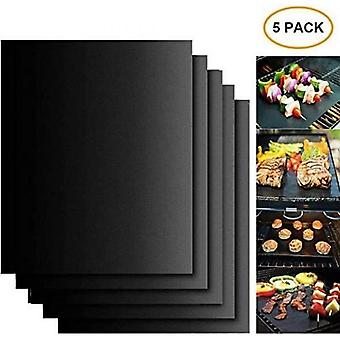 5pcs Grill Mat For Barbecue Cooking Mat For Grilling Or Barbecue 40 X 33 Cm