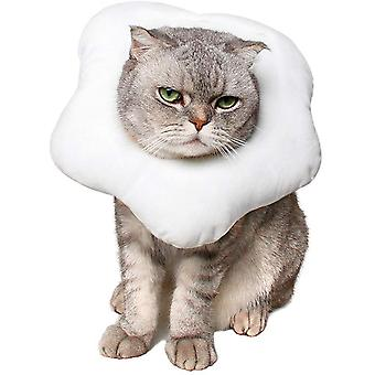 Pet Cat Poached Egg Anti-licking Anti-scratch Collar Protective Cover L Size