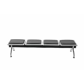 Chaise de bureau - Chaise de bureau - Bureau à domicile - Moderne - Noir - Métal - 151 cm x 45 cm x 40 cm