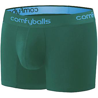 Comfyballs Men's Long Boxer Shorts Fitness Athletic Underwear - Spruce Green