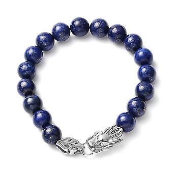 Gyöngyös karkötő nőknek 7.5 '' Lapis Lazuli Születésnap/rozsdamentes acélból 5.15ct