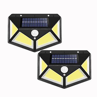 Rechargeable Solar Wall Light For Outdoor Courtyard (2 Pieces, 3 Functions