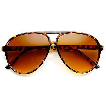 Retro 80s Vintage Blue Blocking XL Large Plastic Aviator Sunglasses