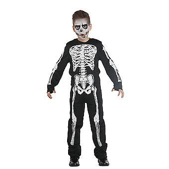 Skelett Boy Kinder Kostüm Junge Knochen Karneval