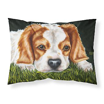 الكلب المتعجرف في العشب النسيج القياسية وسادة