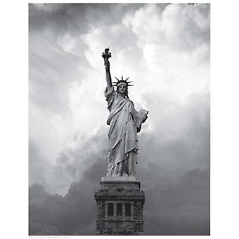 Majestic Lady Liberty Poster drucken (15 x 19)