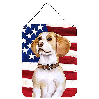 Carolines schatten BB9686DS1216 Beagle patriottische muur of deur hangen Prints