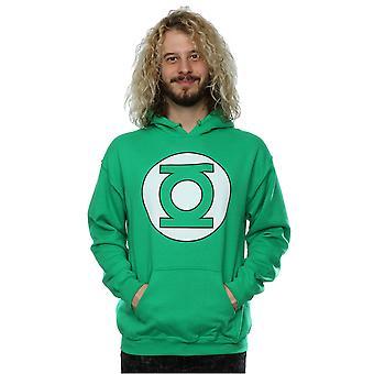 DC كاريكاتير الرجال & apos;ق شعار المصابيح الخضراء هودي
