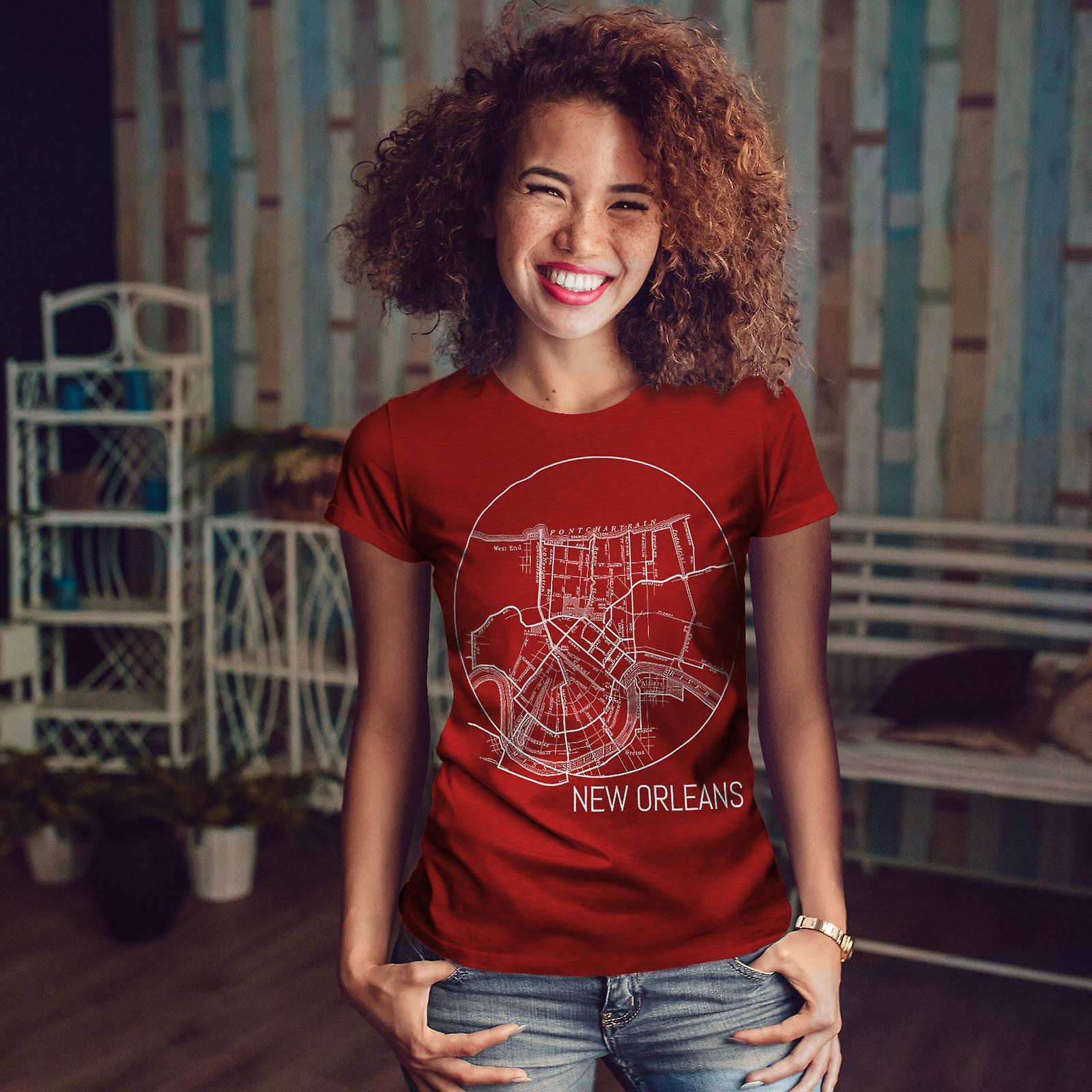 L'Amérique New Orleans RedT-chemise femme | Wellcoda