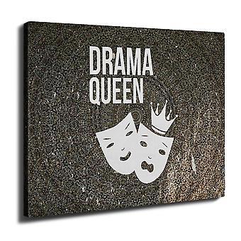 Drama Queen Cool hauska Wall Art Canvas 40 cm x 30 cm | Wellcoda