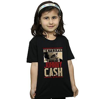 Джонни Кэш девочек человек в черных Фото футболки