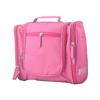 Deluxe Travel Bag Cosmetic Make up Toiletry Case PINK Wash Bag Organiser Pouch