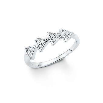 s. Oliver gioiello signore anello argento zirconi in argento SO1324