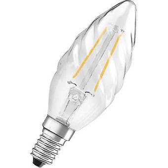 LED OSRAM (monocromático) EEC A++ (A++ - E) E14 Candle twisted 2 W = 23 W Warm white (Ø x L) 35 mm x 99 mm Filament 1 pc(s)