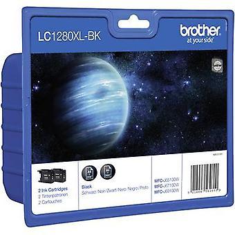 Pack Original d'encre Brother LC-1280XLBK de 2 LC1280XLBKBP2DR noir