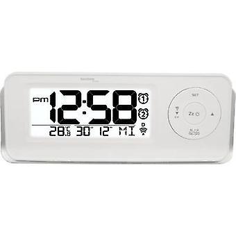 テクノ ライン 09599 WT 498s ラジオ目覚まし時計ホワイト アラーム 2 回
