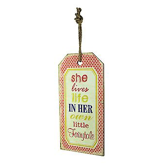 Her Own Little Fairytale Decorative Wood Wall Hanging