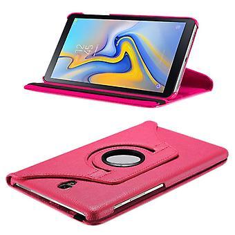 Samsung Galaxy guia para caixa do malote da tampa da caixa de A-10.5 T590 T595 rosa 360 graus novo