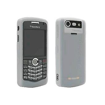 BlackBerry rubberized nahka kotelo BlackBerry 8110, 8120, 8130 Pearl (valkoinen)