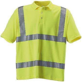 قميص بولو عمال العاكسة عالية الوضوح رجالي Hardwear سباق القوارب