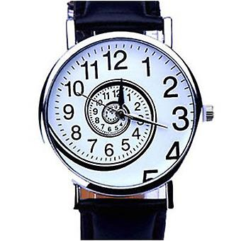 Ladies Watch Black White Time Moving Turn Spin Analogue Watches