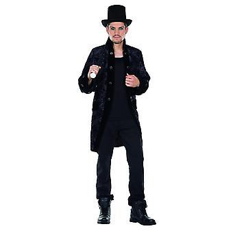 Gothic takki musta miesten puku Halloween gootti