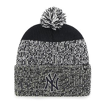 47 fire Knit Beanie - static cuff New York Yankees navy