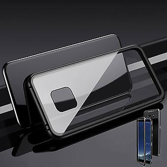 For Huawei mate 20 Pro magnet / metal / glass case bumper black / transparent case cover new
