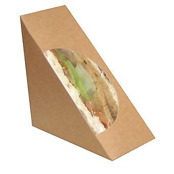 Naturel Standard Kraft Cardboard Brown Sandwich Wedge