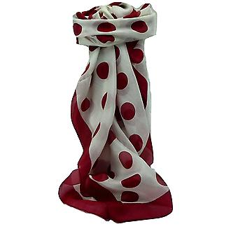 Mulberry Silk Contemporary Quadrat Schal Aji Red von Pashmina & Seide
