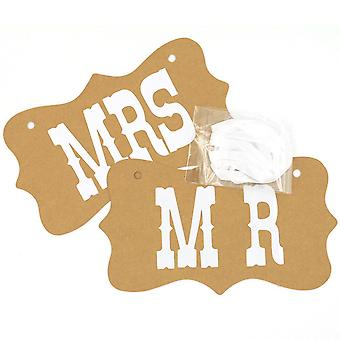MR AND MRS PROP COWHIDE CARDS
